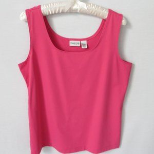 Chico's pink scoop neck like new tank top